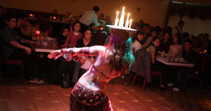 belly dance candles restaurant